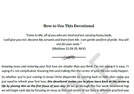 Use The Devotional